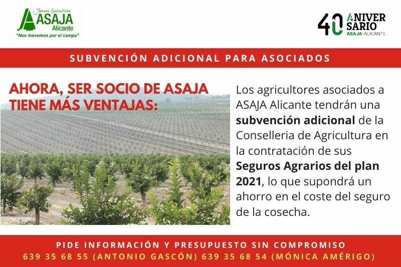 Subvención en el seguro agrario